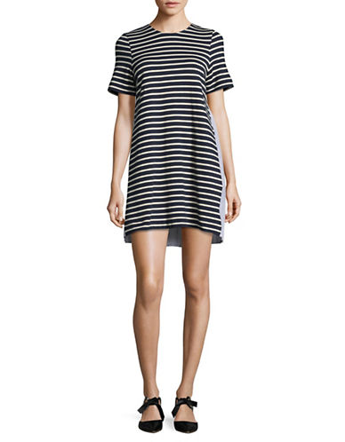 Sea Ny Latch Back Tunic Dress-NAVY/CREAM-Small