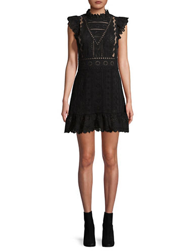 Sea Ny Luna Lace Mini Dress-BLACK-8