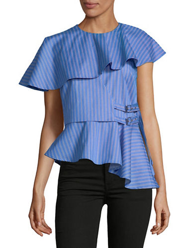 Sea Ny Double Belted Cotton Top-BLUE-8