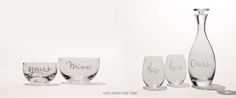 Wedding Gift Nyc Amount : Wine glasses from kate spade new york and more wedding gift ideas for ...