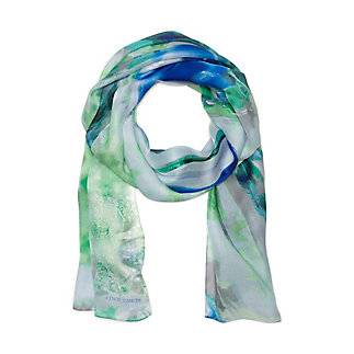 ABSTRACT BLOOMS OBLONG SCARF