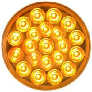 STT55AL: Stop, Turn, Tail Light; 4″ Round Sealed; 21 Diode; Amber LED image
