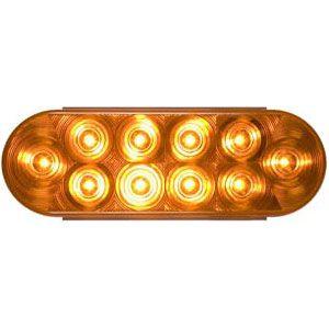 STT72AL: Stop, Turn, Tail Light; 6″ Oval Sealed; 10 diodes; Amber LED image