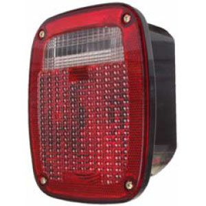 STT60R: Stop, Turn, Tail Light; Universal Mount w/ Reflector and License Light; Red image