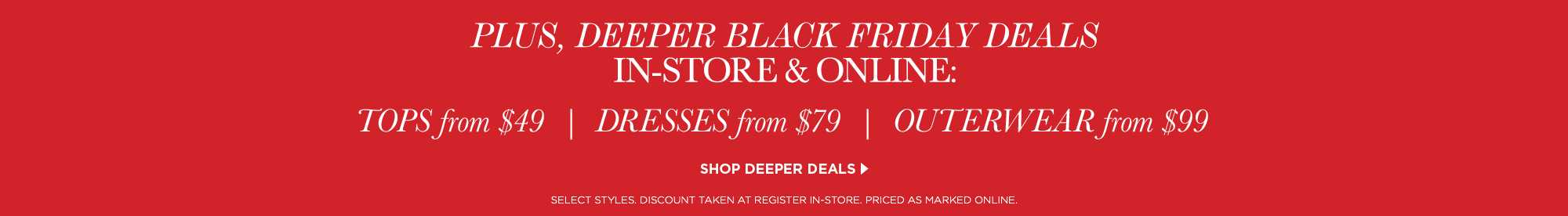 Deeper Black Friday Deals