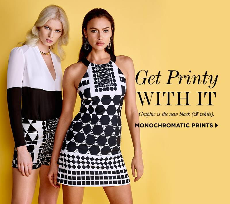 get printy with it, graphic is the new black & white