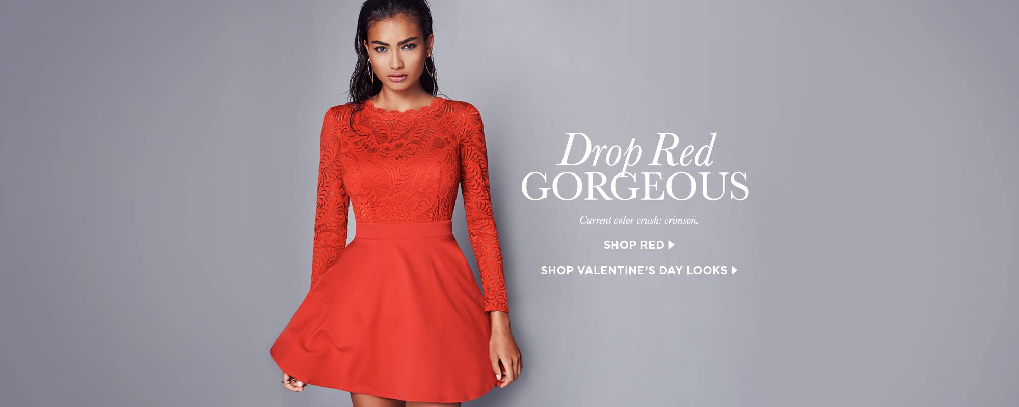 drop red gorgeous, current color crush: crimson. Click here to shop red.