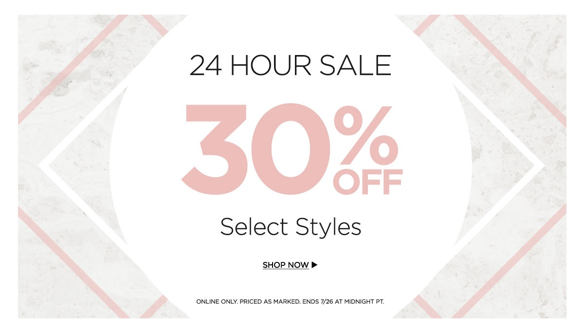 24 Hour Sale 30% Off