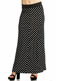 Chevron Striped Maxi Skirt at 2b