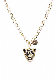 2b Leopard Head Necklace