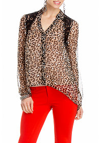 High Low Leopard Shirt at 2b