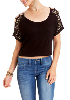 2b Stud Cut-out Shoulder Top