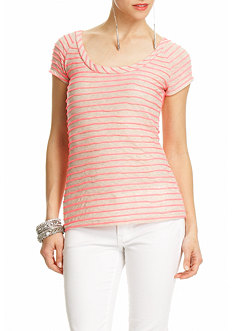 2b Novelty Neon Striped Tee