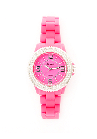 2b Neon Rhinestone Watch