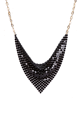 2b Disco Bib Chain Mail Necklace
