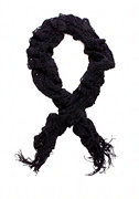 2b Ruffled Open Weave Knit Scarf