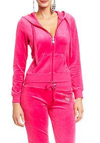 Ombre Burst Velour Heart Hoodie at 2b