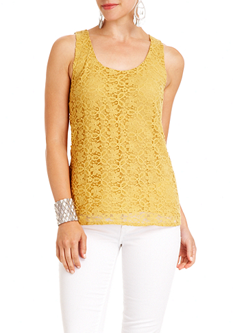 2b Lace Detail Top