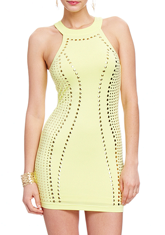 2b Kandi Studded Keyhole Back Dress