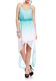 2b Arielle Studded Ombre High Low Dress