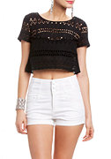 2b Mandy Eyelet Crop Top