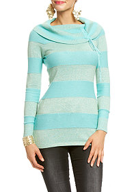 2b Marilyn Metallic Stripe Sweater