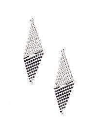 2b Disco Rhinestone Chainmail Kite Earring