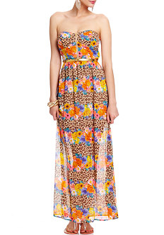 2b Blooming Leopard Maxi Dress