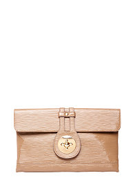 2b Patent Leatherette Clutch