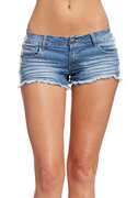 2b Tie Dye Panel Denim Short