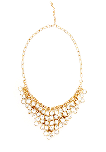 2b Cascade Jewels Bib Necklace