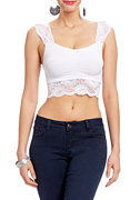 2b Lace Crop Cami