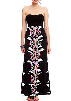 2b Mozaic Aztec Maxi Dress