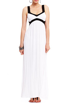 2b Aubrey Colorblock Maxi Dress