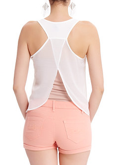 2b Sequin Chiffon Back Top