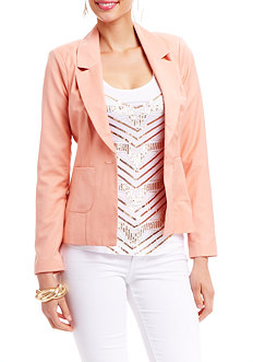 2b Rolled Cuff Cut-out Blazer