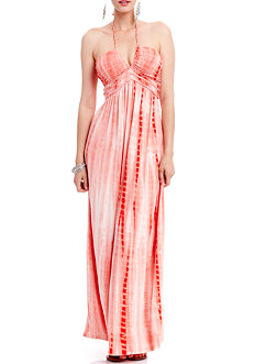 2b Braid Trim Tie-dye Maxi Dress