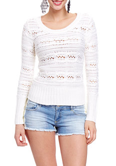 2b Open Stitch Vertical Cable Sweater