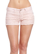 2b Crochet Eyelet Denim Short