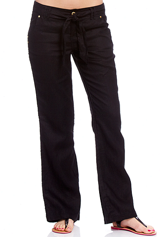 2b Roxi Linen Snap Pocket Pant