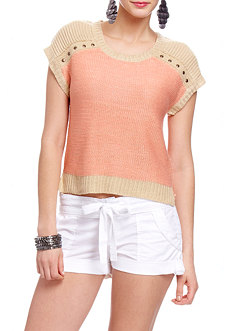 2b Studded Colorblock Sweater