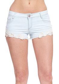 2b Denim Crochet Short