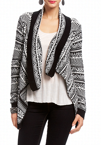 2b Draped Tribal Sweater