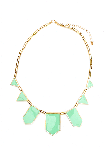 2b Plaque Stones Statement Necklace