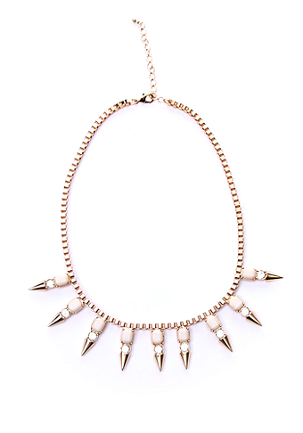 2b Tooth Spikes Statement Necklace