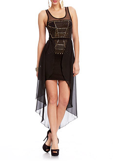 Love Studded High Low Dress at 2b