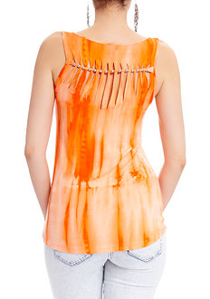 2b Carly Twist Back Tye Dye Top