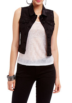 2b Carri Animal Denim Vest