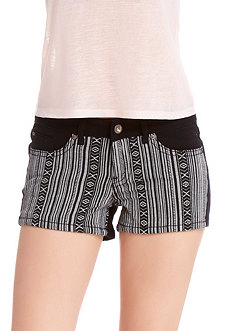 2b Tribal Print Denim Short