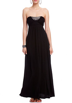 2b Anya Ring Back Tube Maxi Dress